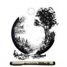 Pen and Ink artwork by Derek Myers.