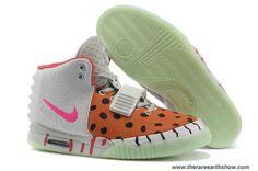 61e8d61fbb3 New Nike Air Yeezy II White and Orange Women Shoes Baskets Nike
