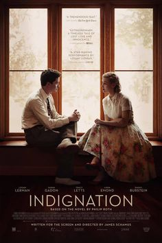 Indignation (2016): based on the novel by Phillip Roth, written and directed by James Schamus
