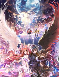 This should be the new Puella Magi Madoka Magica movie cover, but I don't know XD