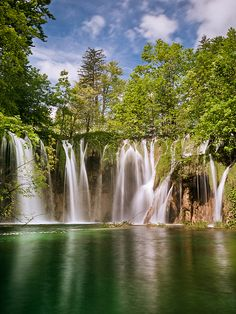 Plitvice Lakes in spring, Croatia. I want to go see this place one day.Please check out my website thanks. www.photopix.co.nz