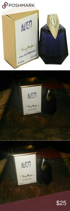 """Thierry Mugler """"Alien"""" Perfume (mini) 100% Authentic Thierry Mugler Alien Perfume beautiful scent of Indian jasmine, white amber, vanilla brand new comes in original box and packaging perfect size to take with you on the go Thierry Mugler Other"""