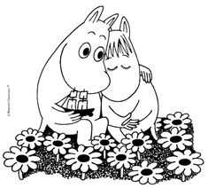 Friendship and Love – a central message of Tove Jansson's work - Moomin Cute Hippo, Cute Baby Animals, Moomin Cartoon, Moomin Valley, Rosalie, Nursery Pictures, Tove Jansson, Textiles, E Cards