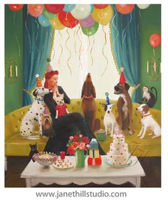 Miss Moon Was A Dog Governess. Lesson Sixteen by janethillstudio