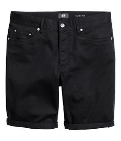 5-pocket shorts in stretch cotton twill with a regular waist, button fly, and slim legs.  | H&M For Men