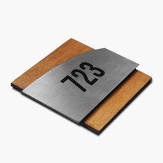 Door Number Sign - Decal For Door - Wood Room Numbers - Modern Decorative Numbers Door Number Sign, Door Numbers, House Name Signs, Home Signs, Metal House Numbers, Office Signage, Scotch Tape, Room Doors, Bathroom Signs