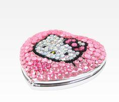 Hello Kitty Compact Mirror: Bling Pink
