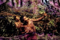 Imagens de índios Arara (acima) e Kaiapó (ao lado) feitas no Pará em 1989 e retrabalhadas pela fotógrafa em 2013. Foto: Nair Benedicto