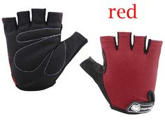 EGOODBEST Unisex Cycling Half Finger Sports Gloves for Riding Mountain Bike M L XL (Red, XL). Half finger gloves, extra grip and durability. Anti-shock design, more comfortable for you. Hygroscopic cloth fabric to design the thumb of glove, it's convenient and easy to wipe away sweat effectively. Protect hands from hurting caused by weight, or rubbing. Entire glove design nice, is your good helper for summer riding.