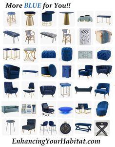 Blue Furniture & Accessories for the Home Blue Furniture, Furniture Decor, Furniture Design, Facade Design, House Design, Interior Design Presentation, Salwar Designs, Tiny House Living, Living Room Designs