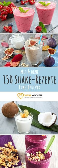 Ob Low-Carb, High-Carb, Vegetarisch oder Vegan - für jeden ist der richtige Shake zum Abnehmen und Genießen dabei.