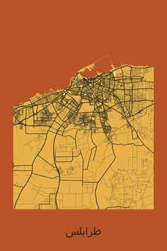 old map of Tripoli Libya in 1940s Libyan maps Pinterest