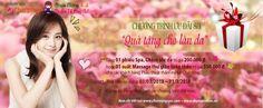 Khuyến mãi Charming Spa tặng quà nhân dịp 8-3-2013