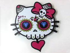 Day of the Dead Sugar Skull  Dead Kitty  Skull by SolPixieDust