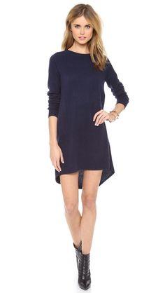 Cashmere sweater dress.
