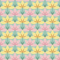 circle 8 arc flower 1x2 fabric by sef on Spoonflower - custom fabric