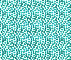 Aquamarine Watercolor Dots fabric by ivieclothco on Spoonflower - custom fabric