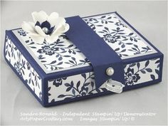 Handmade Gift Box using Stampin' Up! Floral Boutique