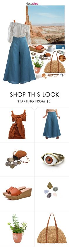"""""""Desert // Newchic"""" by lsaroskyl ❤ liked on Polyvore featuring KEEP ME, Vivienne Westwood, Holistic Silk, San Diego Hat Co., Sweet Bella and Bodum"""