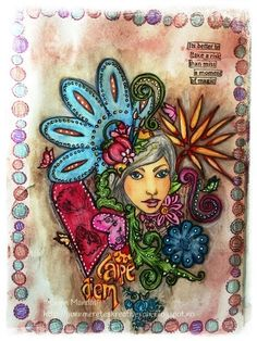 Gunns Kreative Rom: AJ side for StampARTic Art Journal Pages, Art Journals, Princess Zelda, In This Moment, Dolls, Cards, Fictional Characters, Tattoo, Creative