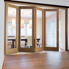 Room Divider Worcester Clear Glass Folding Door System Dividers | 拉 ...