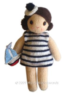 Sailor girl knitted toy