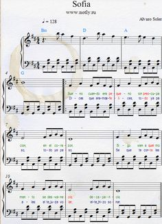 Alvaro Soler — Sofia Download PDF Piano Sheet Music