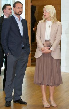 Haakon and Mette-Marit attend an exhibition opening