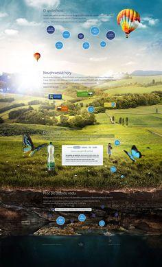Dobra Voda web design by Pavel Flegl, via Behance
