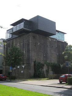 Flachdach-Nutzung der besonderes Art: Penthouse auf Bunker in Hamm