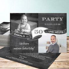 Jahrestafel 50 Fun Wedding Invitations, Birthday Invitations, Design Art, Graphic Design, Papi, Letter Board, 50th, Birthdays, Happy Birthday