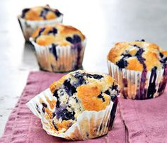 "a must have when craving REAL blueberry muffins!! ""Gwyneth Paltrow's Healthy Blueberry Muffins"""