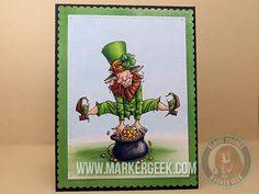 Mo's Digital Pencil Leprechaun Card & Video - www.markergeek.com