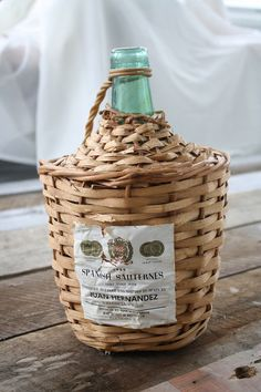 Rattan Wrapped Bottle