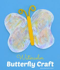 A fun summer afternoon craft for kids. Make watercolor butterfly craft for kids