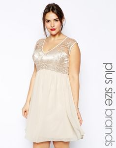 Plus Size Lace Bodice With Skater Skirt