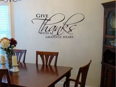 Give Thanks With A Grateful Heart Vinyl Wall by designstudiosigns, $38.00