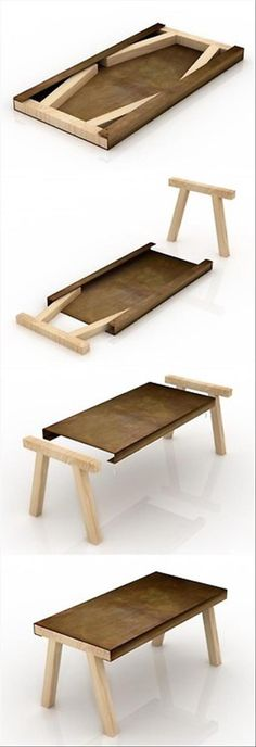 Iron & Wood, simple, different so functional, easy to store, easy to assemble!