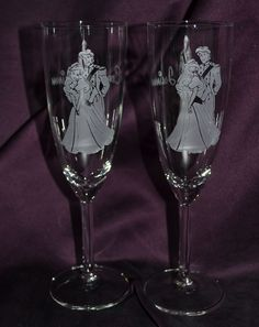 Ariel and Prince Eric Toasting Flute Set