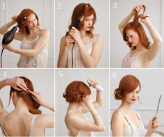 This is a great #hairstyle for wedding or cocktail parties. Can't wait to try it!