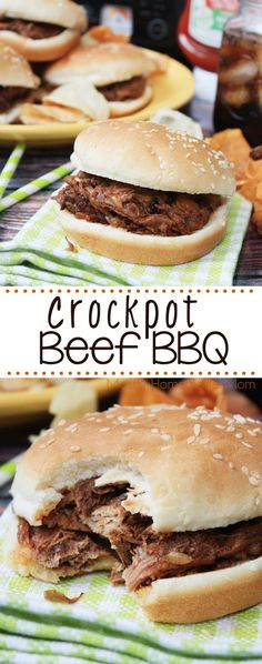 Crockpot Beef BBQ - Set it and forget it style! Beef roast slow cooks with vegetables, ketchup, brown sugar, and spices until it shreds wonderfully and is served on rolls! #KetchupwithFrenchs #ad