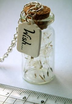 Wish jar, with wish label