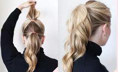 Hairstyles for Long Thin Hair, Easy Ideas for Long Fine Hair Easy Hairstyles For Medium Hair, Easy Hairstyles For Long Hair, Braids For Long Hair, Braided Hairstyles, Long Ponytails, Hairstyle Ideas, Med Length Hairstyles, Simple Hairdos, Hair Ideas