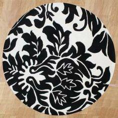 Handmade Sabrina Ivory Floral Wool Rug (6' Round)