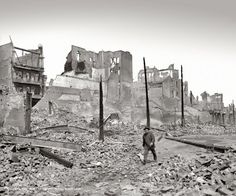 Heart of Chinatown, San Francisco, after the earthquake and fire of 1906.