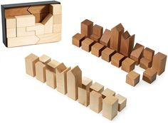 Cleverly Engineered Minimalist Chess Set