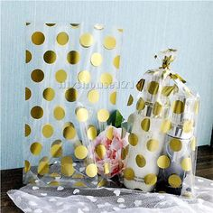 15x gold #cello #cellophane #birthday party wedding favour sweet #macaron gift bag,  View more on the LINK: 	http://www.zeppy.io/product/gb/2/311553850840/