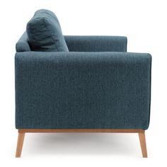 Modrá třímístná pohovka Vivonita Milton Tub Chair, Otaku, Love Seat, Accent Chairs, Couch, Furniture, Design, Home Decor, Upholstered Chairs