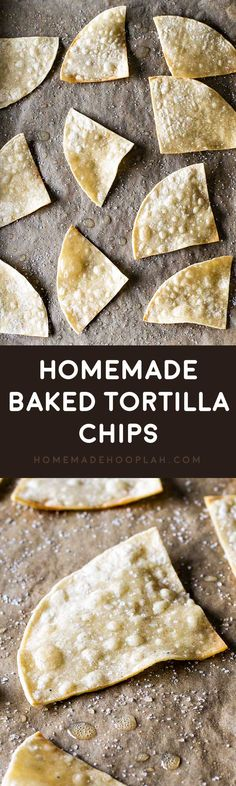 Homemade Baked Tortilla Chips! These baked tortilla chips are easy to make and SO much better for you than fried chips. Plus you make your own unique and interesting flavors! | HomemadeHooplah.com