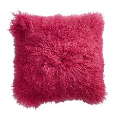 Tout doux.... le coussin à poils longs 100% laine de chèvre de Mongolie POLLUX par Home Spirit déco